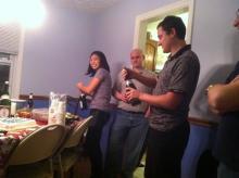 Graduation Party with Karen, Tom, and Ryan, December 2011.